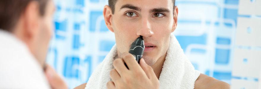 Raser les poils du nez